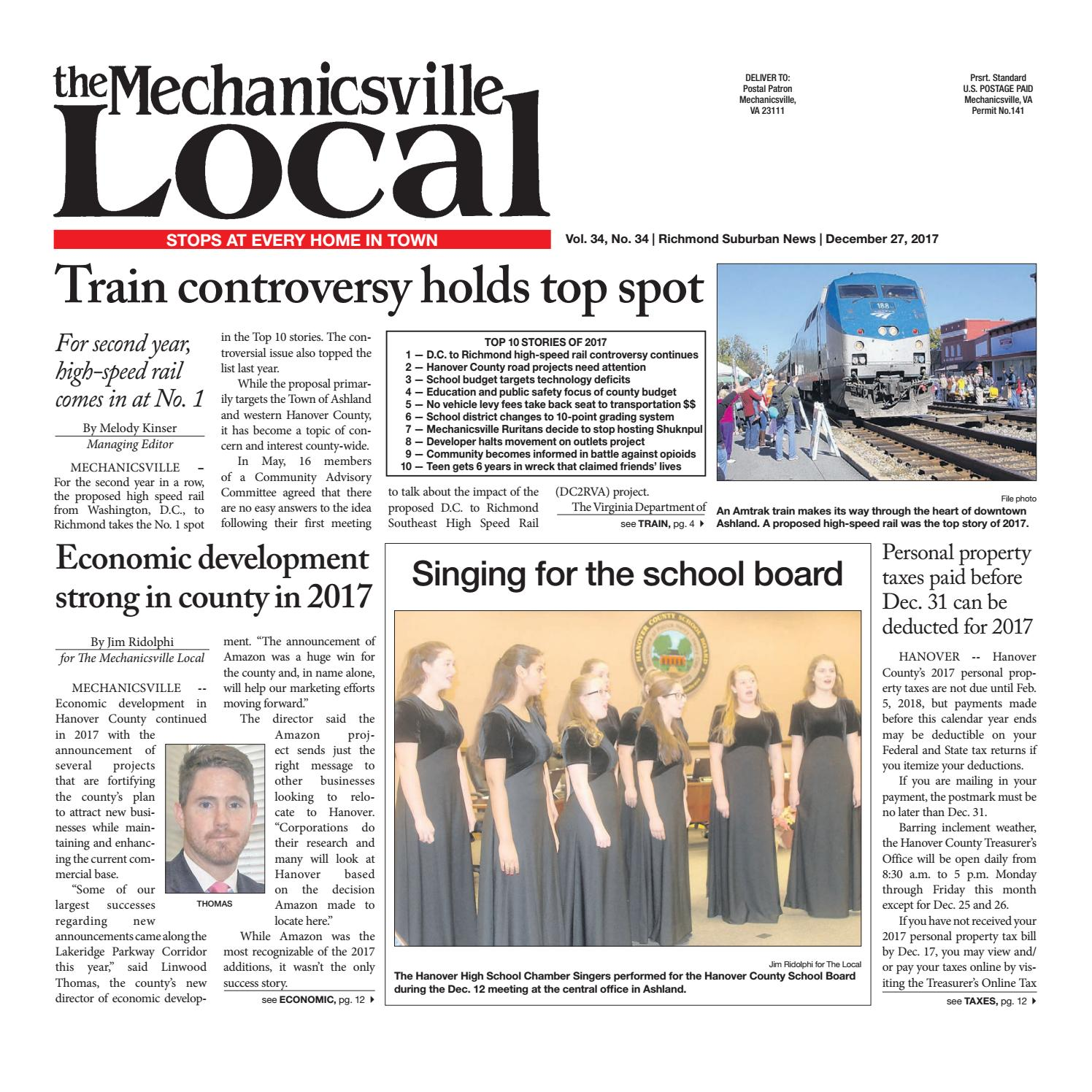 12 27 17 by the mechanicsville local issuu