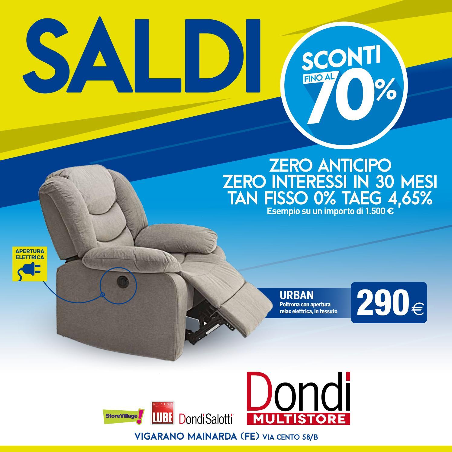 Dondi Salotti Saldi 2018 - Vigarano by Michele Travagli - issuu