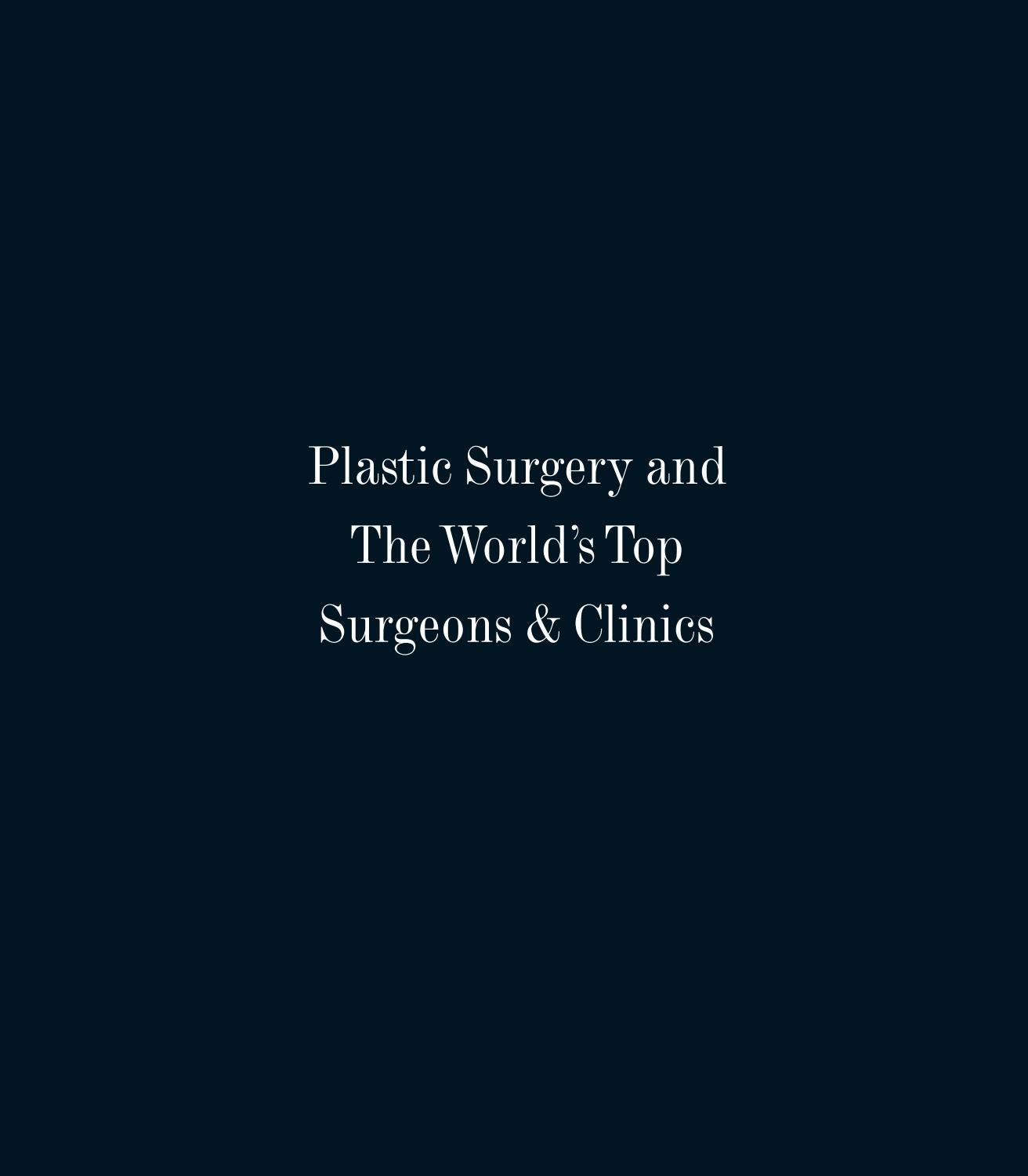 Plastic Surgery and the World's Top Surgeon and Clinics by