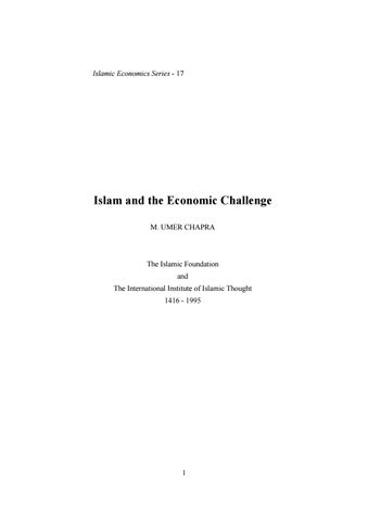 Islam and the economic challenge by Mohamed Rahumathulla
