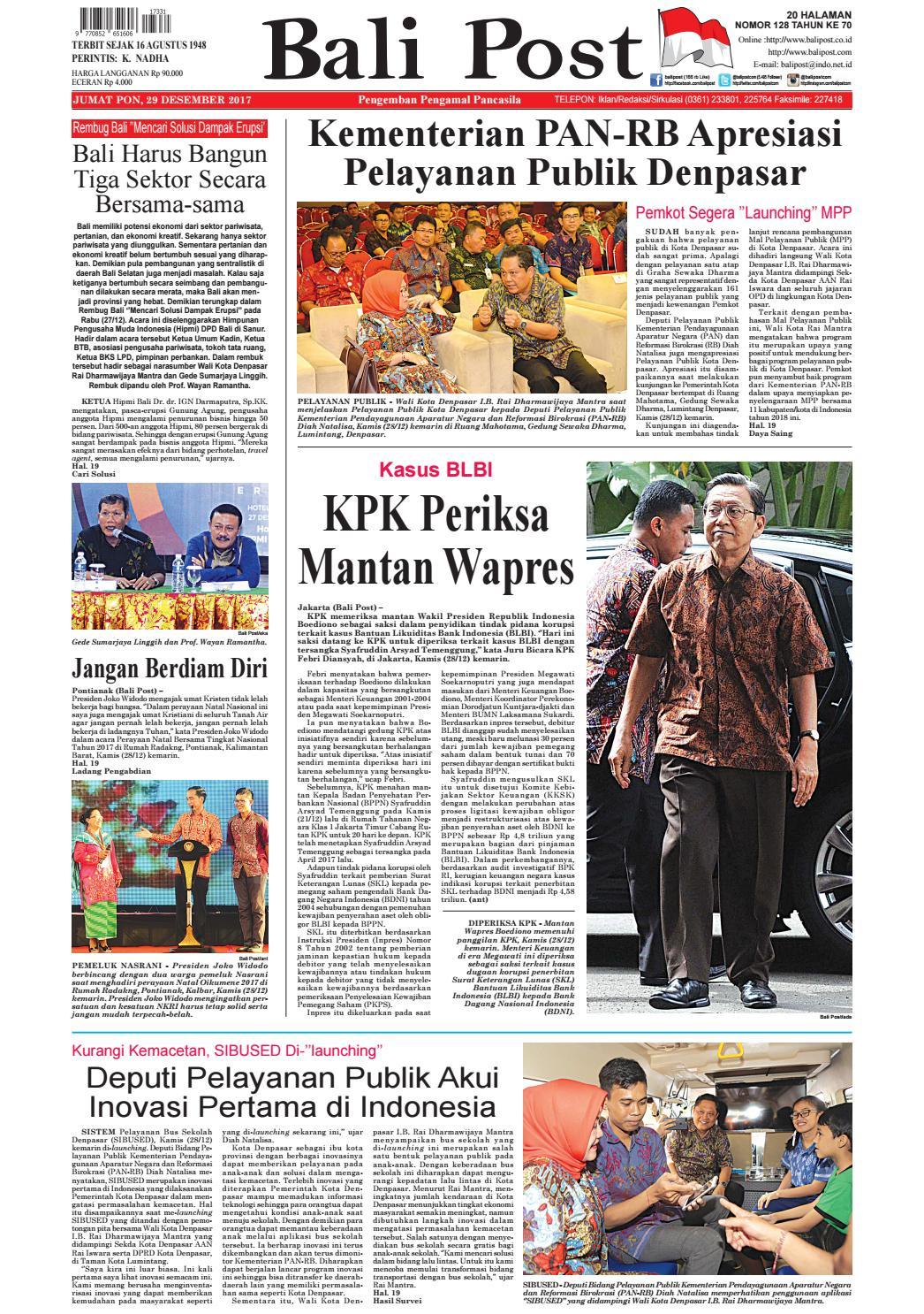 Edisi 29 Desember 2017