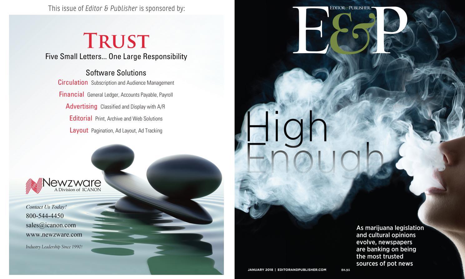January 2018 - Editor & Publisher by Duncan McIntosh Company - issuu