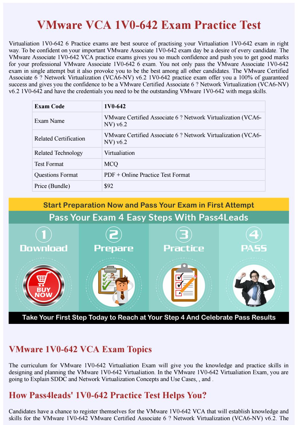 Vmware 1v0 642 exam questions by pass4 leads issuu xflitez Images