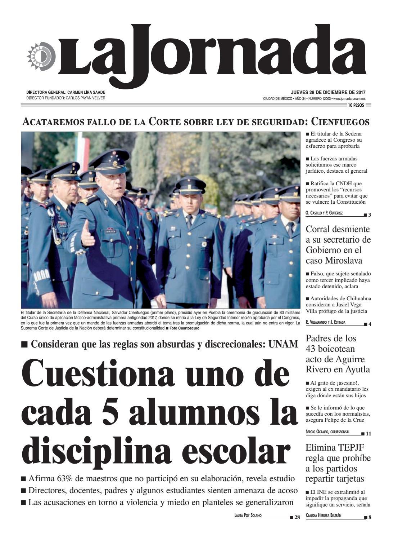 dec6dd86d La Jornada, 12/28/2017 by La Jornada - issuu