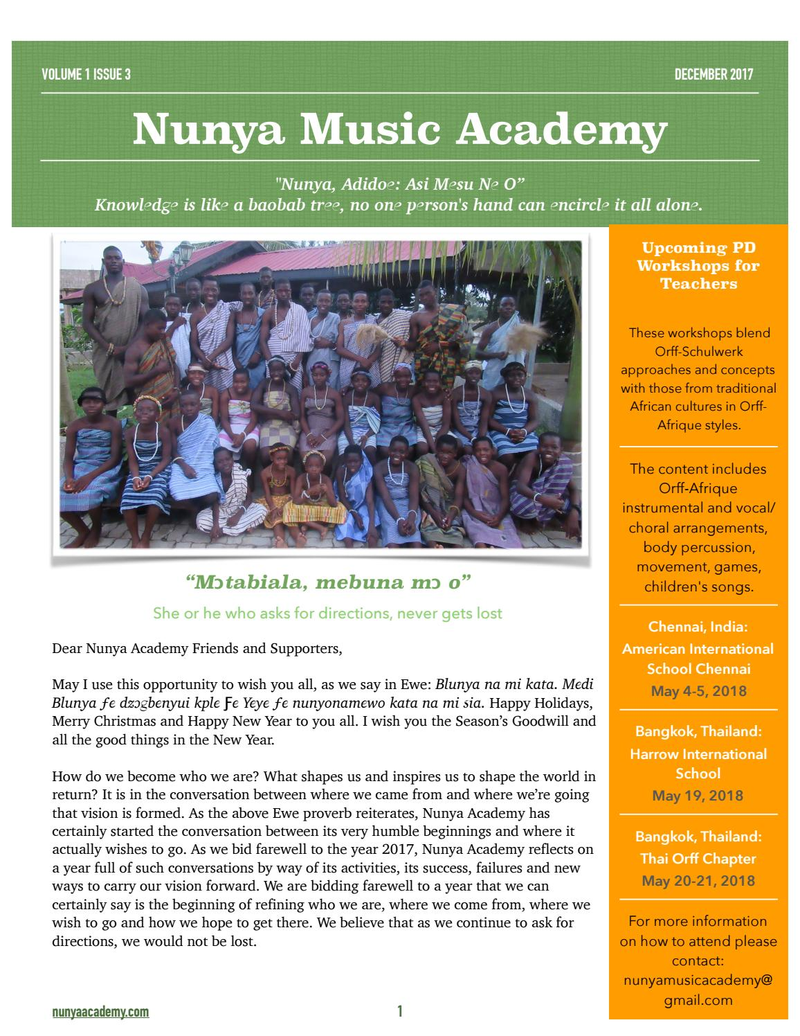 NMA Newsletter Vol 1 Issue 3 by Nunya Music Academy - issuu