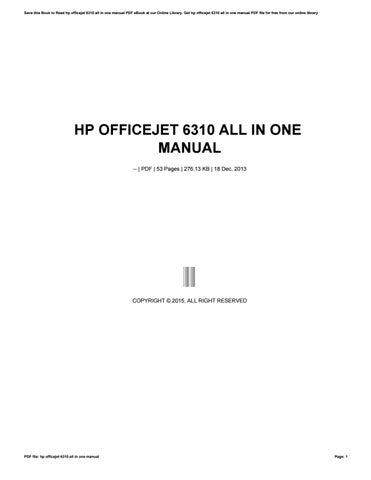 hp officejet 6310 all in one manual by tvchd6 issuu rh issuu com hp officejet 6310 service manual hp officejet 6310xi manual