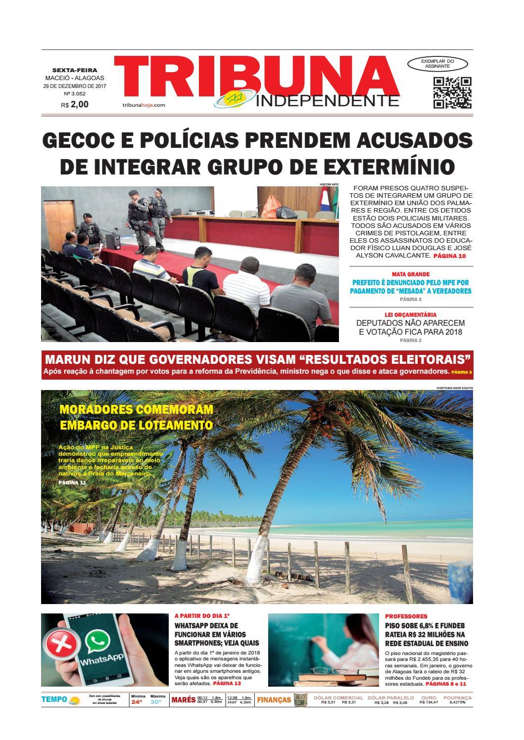 26ac0e008d9 Edição número 3052 - 29 de dezembro de 2017 by Tribuna Hoje - issuu