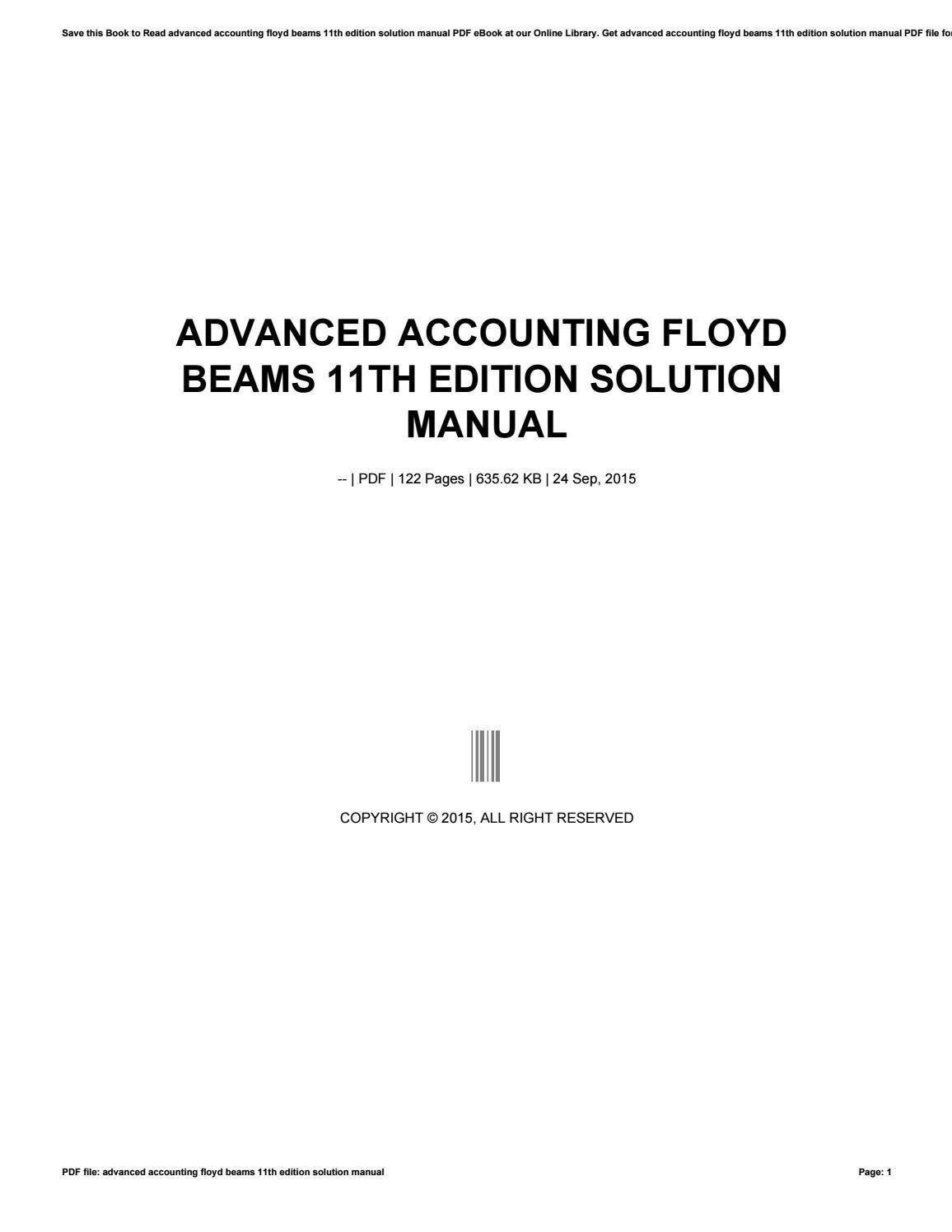 Advanced accounting floyd beams 11th edition solution manual by maildx92 -  issuu