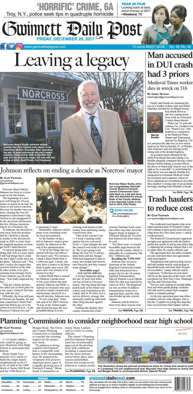 December 29, 2017 — Gwinnett Daily Post by Gwinnett Daily