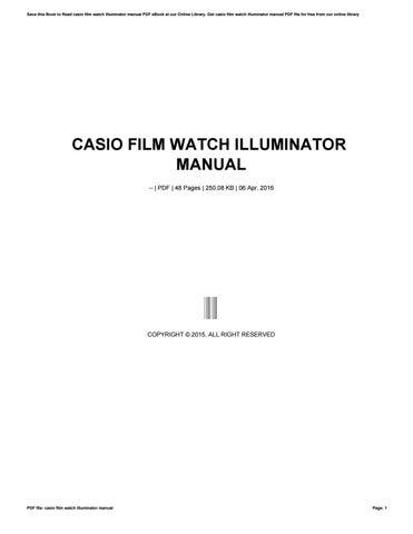 casio edifice manual download
