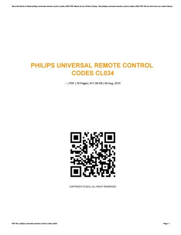 Philips Universal Remote Control CL034