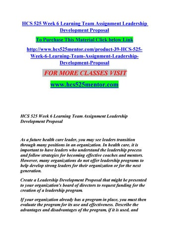 hcs 525 leadership strategies healthcare Hcs 525 week 3 learning team assignment literature review by partin buvysi  of the research process to problems in health care by partin buvysi  organizations.