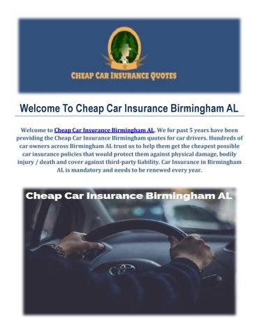 Cheap Car Insurance Birmingham Al