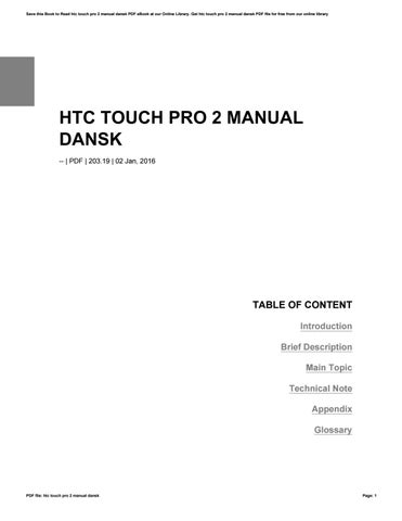htc touch pro 2 manual dansk by preseven9 issuu rh issuu com HTC Touch Pro2 HTC Touch Pro2