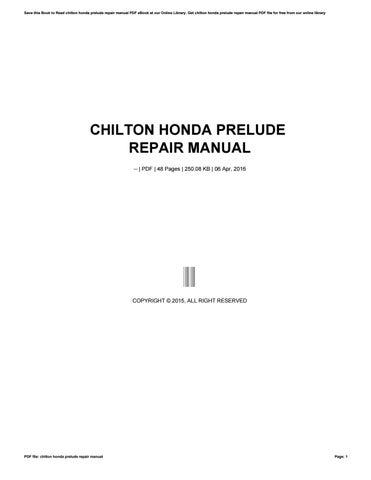 Chiltons Repair Manuals Online Ebook