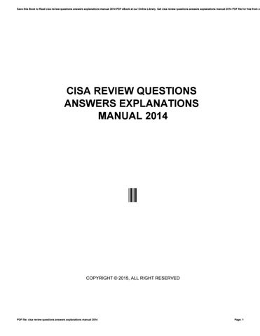 Manual cisa certificacion by crypemail8 issuu cisa review questions answers explanations manual 2014 fandeluxe Images