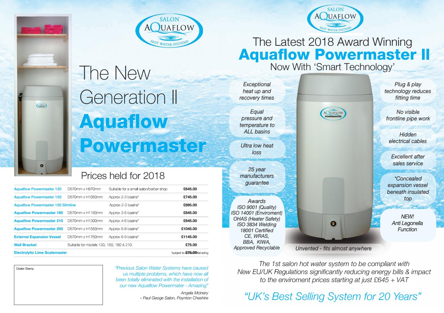 Aquaflow Brochure by Salon Supplies - issuu