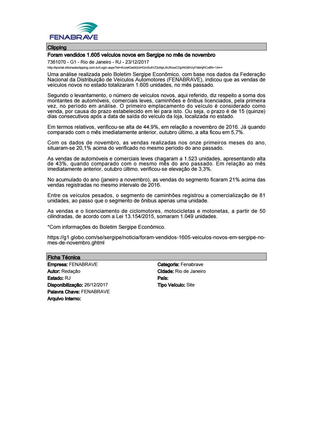 77cb51dbf0cf7 Clipping Fenabrave 26.12.2017 by MCE Comunicação - issuu