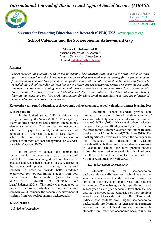 Liberty University Academic Calendar.School Calendar And The Socioeconomic Achievement Gap By Center For