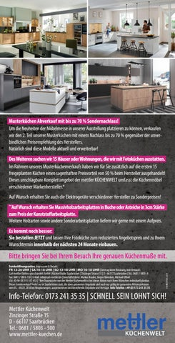 Mettler Saarbrücken mettler küchen 04 01 by saarbrücker verlagsservice gmbh issuu
