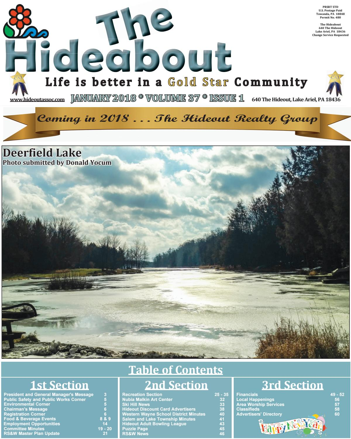 The Hideabout January 2018 by The Hideout - issuu