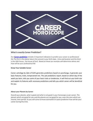 What is exactly career prediction by Astrology By Ashok