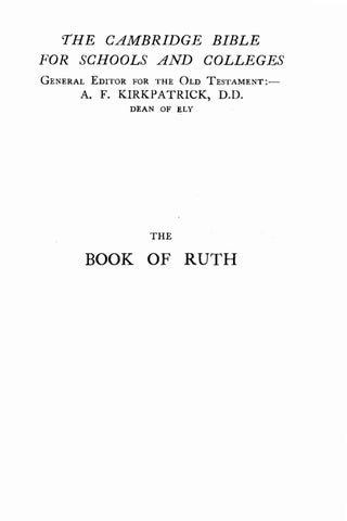 George Albert Cooke [1865-1939], The Book of Ruth in the