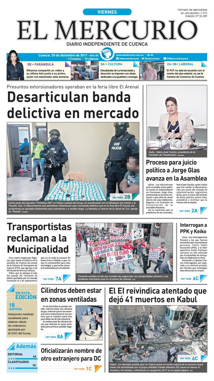 hemeroteca 29-12-2017 by Diario El Mercurio Cuenca - issuu