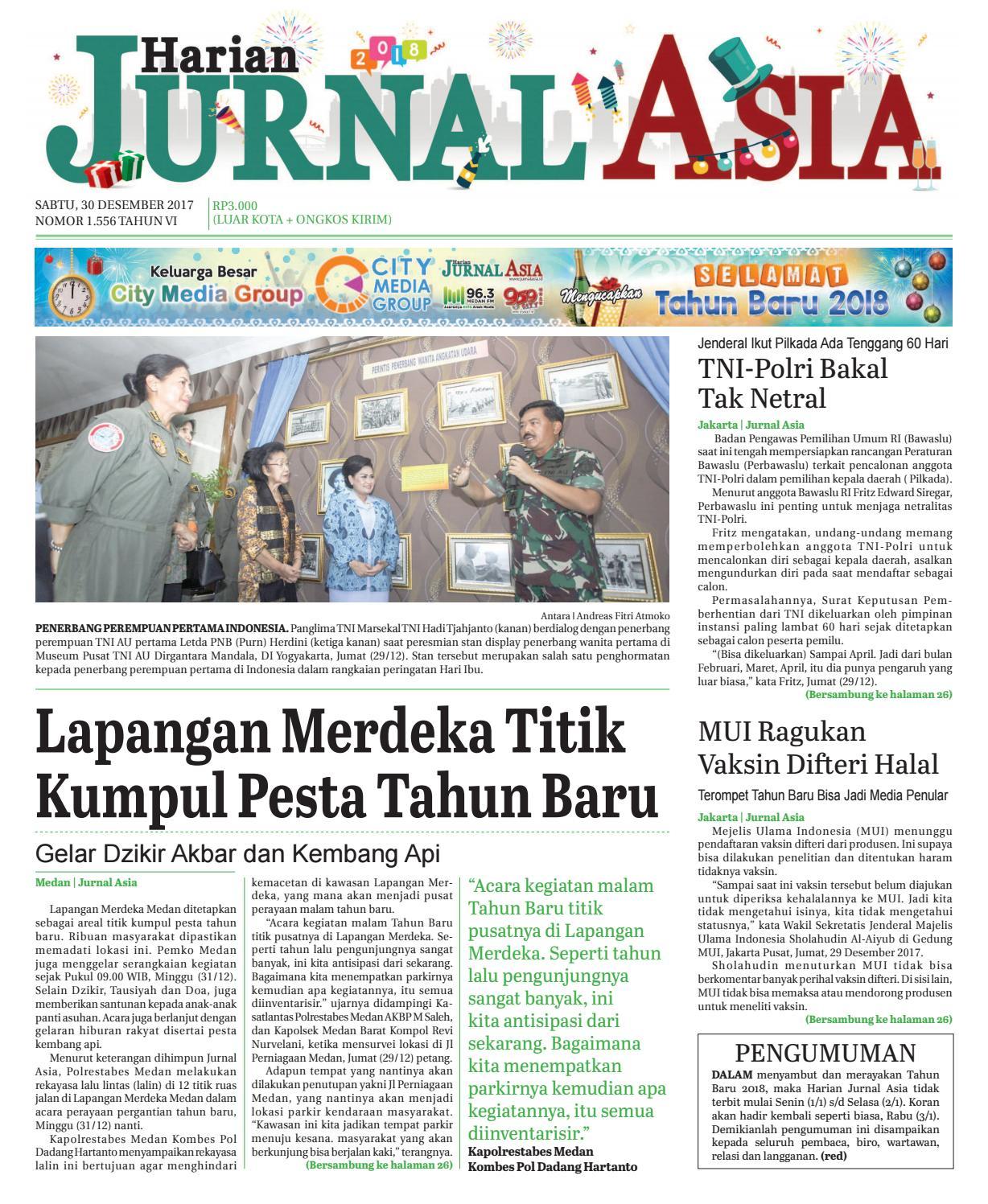 Harian Jurnal Asia Edisi Sabtu 30 Desember 2017 By Produk Ukm Bumn Chesse Pie Khas Balikpapan Medan Issuu