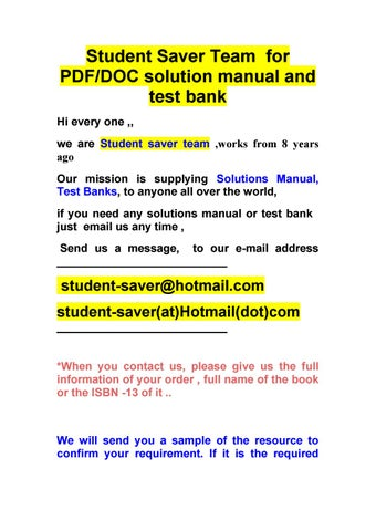 solution manuals test banks list july 2012 by student plus net rh issuu com
