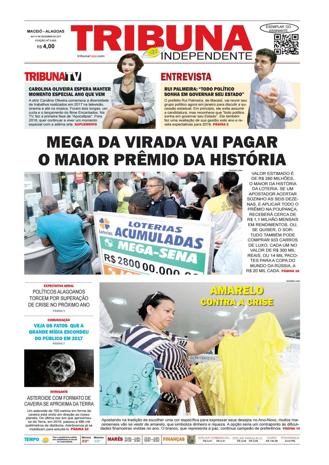 b06613900b505 Edição número 3053 - 30 e 31 de dezembro de 2017 by Tribuna Hoje - issuu