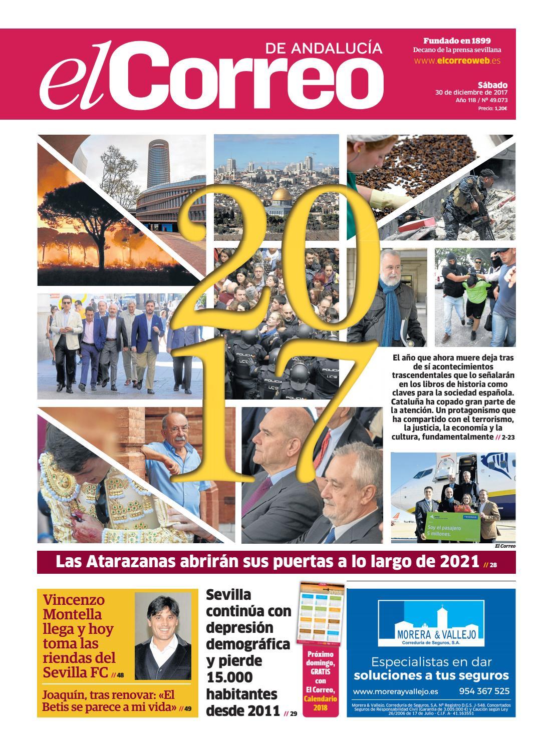 super cheap afb59 e46f7 30.12.2017 El Correo de Andalucía by EL CORREO DE ANDALUCÍA S.L. - issuu