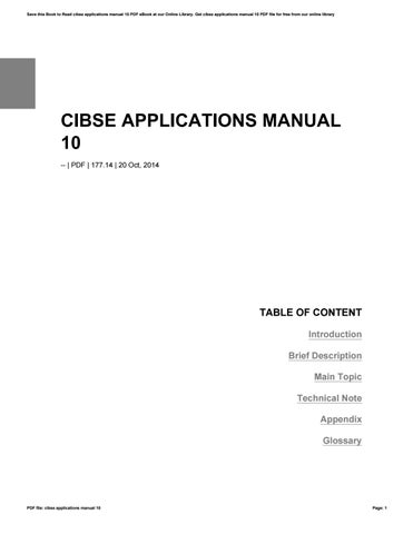 cibse applications manual 10 by reddit803 issuu rh issuu com Chartek 7 Application Manual Cummins Application Manual