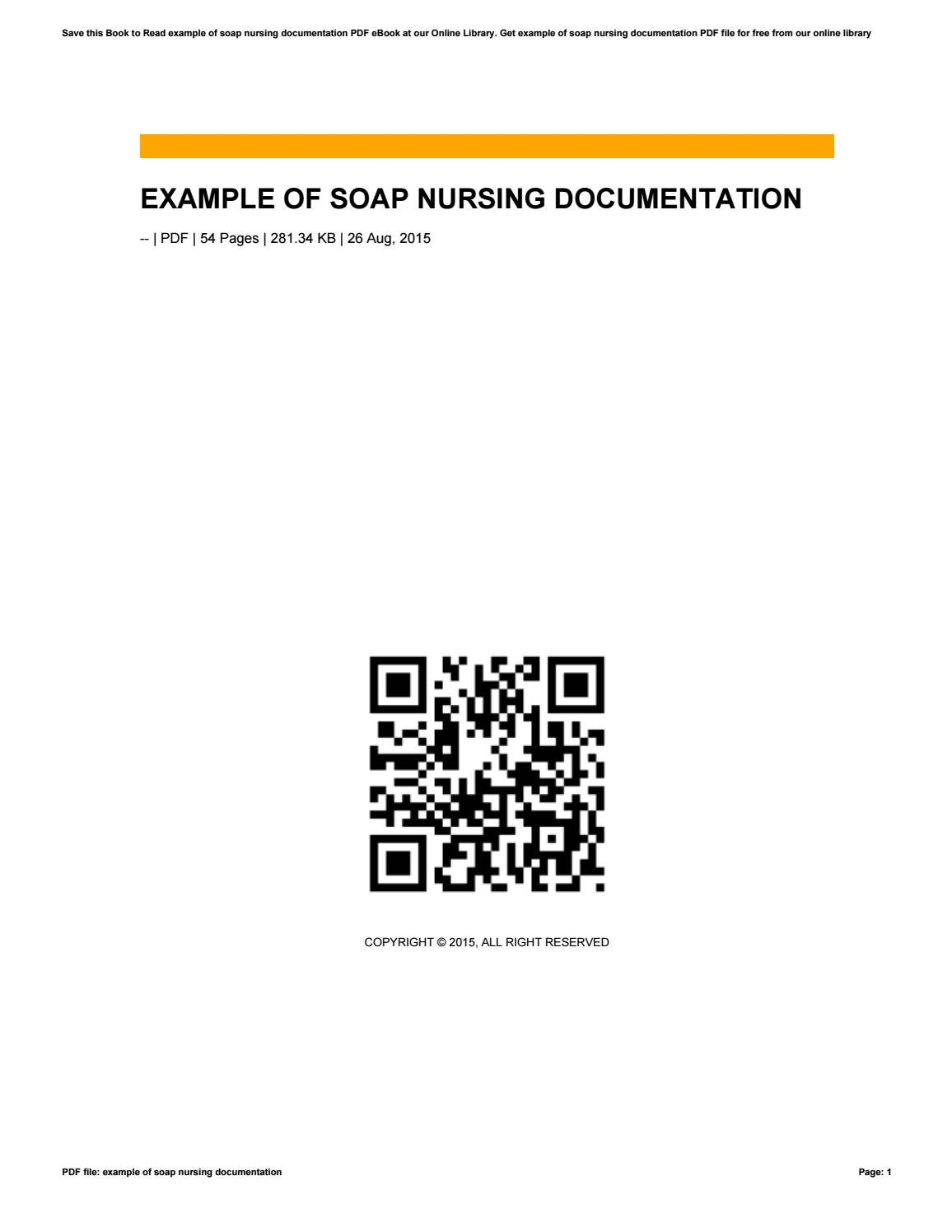 example of soap nursing documentation by reddit803 issuu