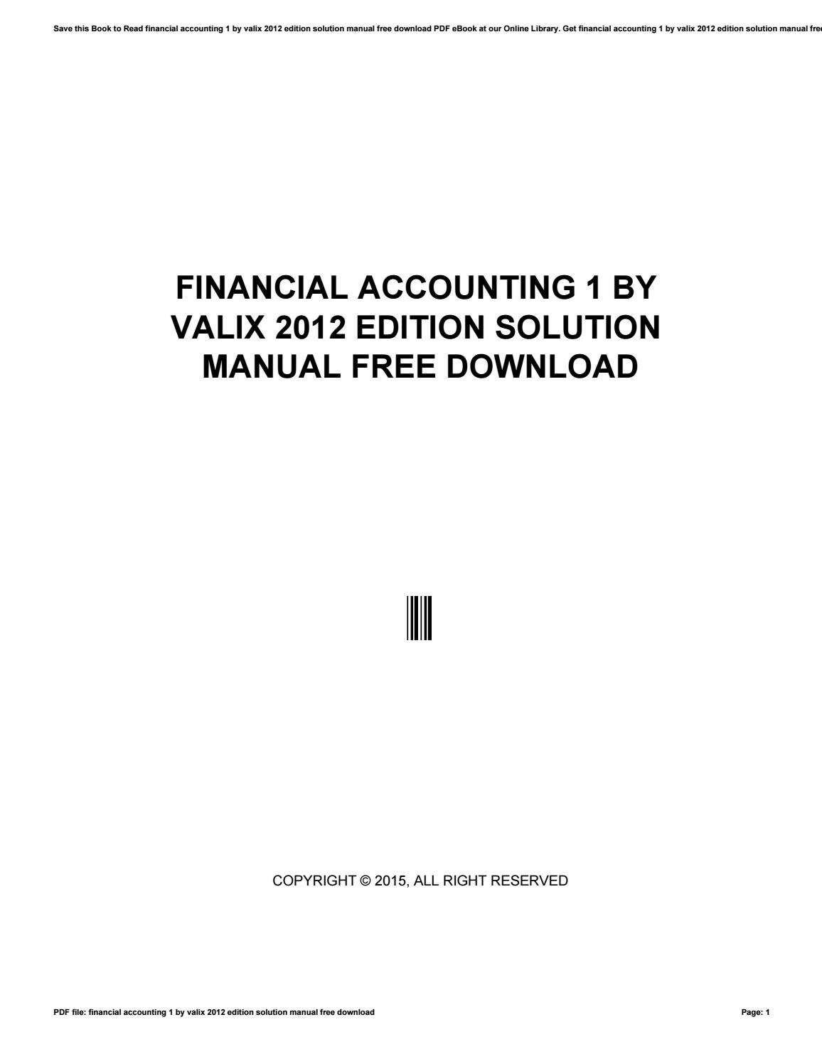 financial accounting 1 by valix 2012 edition solution manual free rh issuu com financial accounting 2 valix 2012 solution manual financial accounting 3 valix solution manual 2012