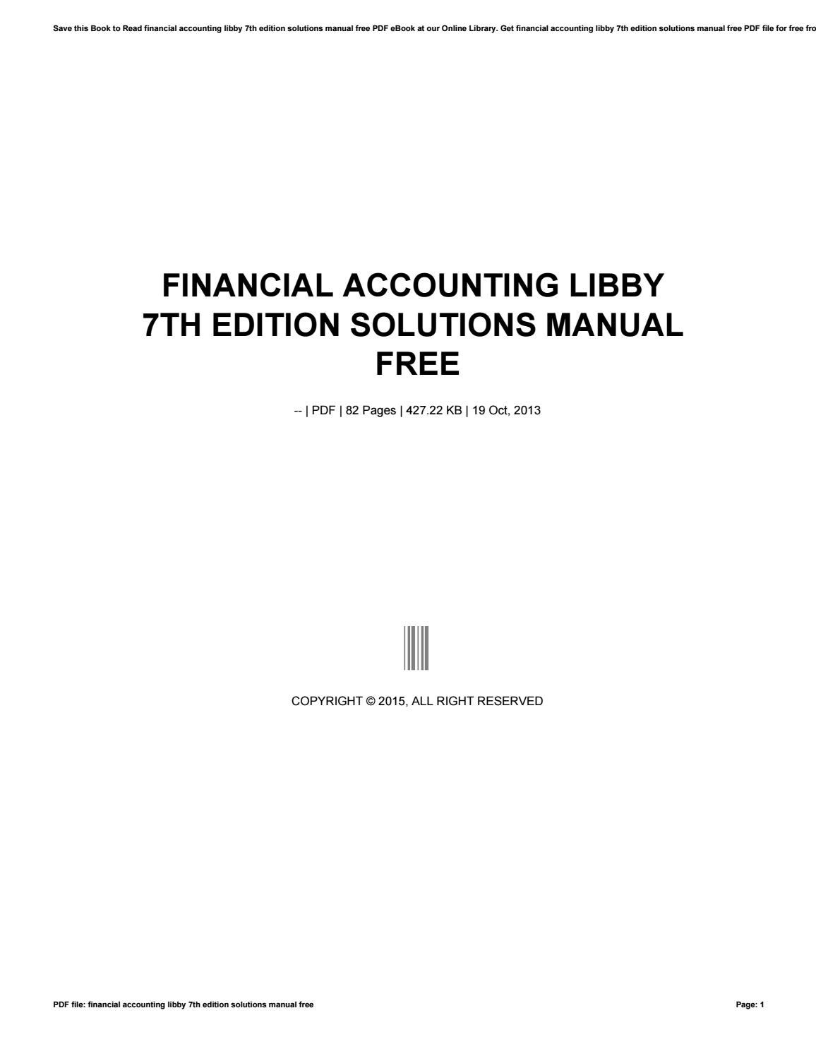 financial accounting libby 7th edition solutions manual free by rh issuu com