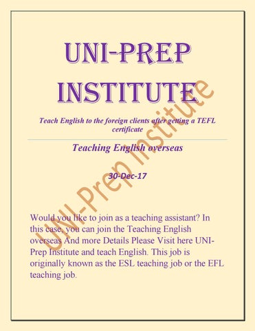 Teach english to the foreign clients after getting a tefl by Jean ...