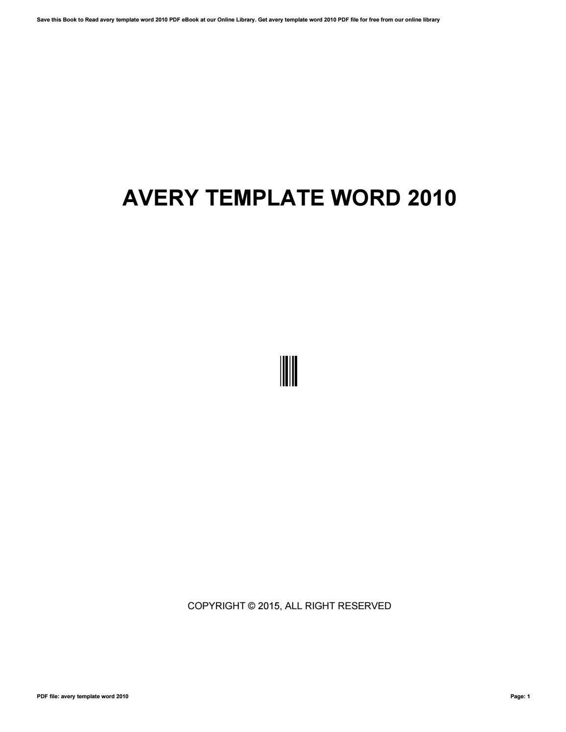 avery template word 2010 by gotimes62
