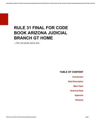 rule 31 final for code book arizona judicial branch gt home by