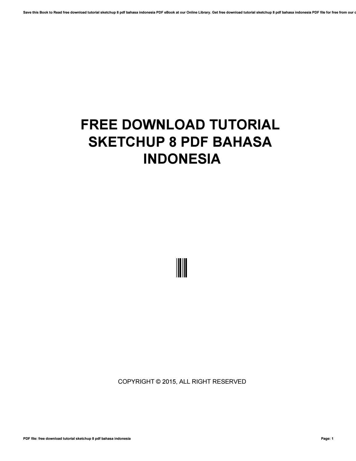 google sketchup 8 tutorial pdf bahasa indonesia