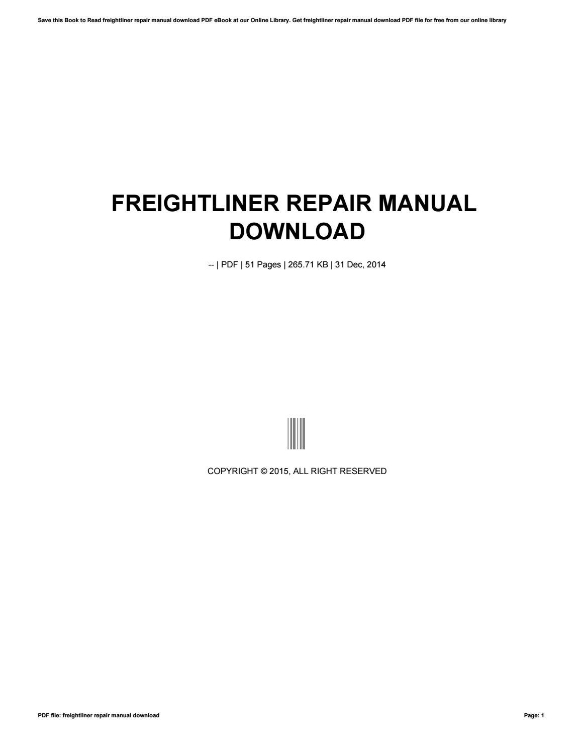 freightliner repair manual download