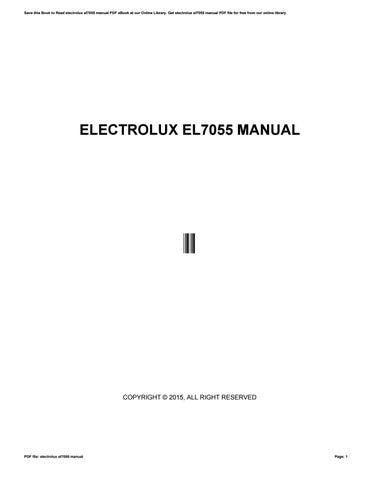 electrolux el7055 manual by e2540 issuu rh issuu com