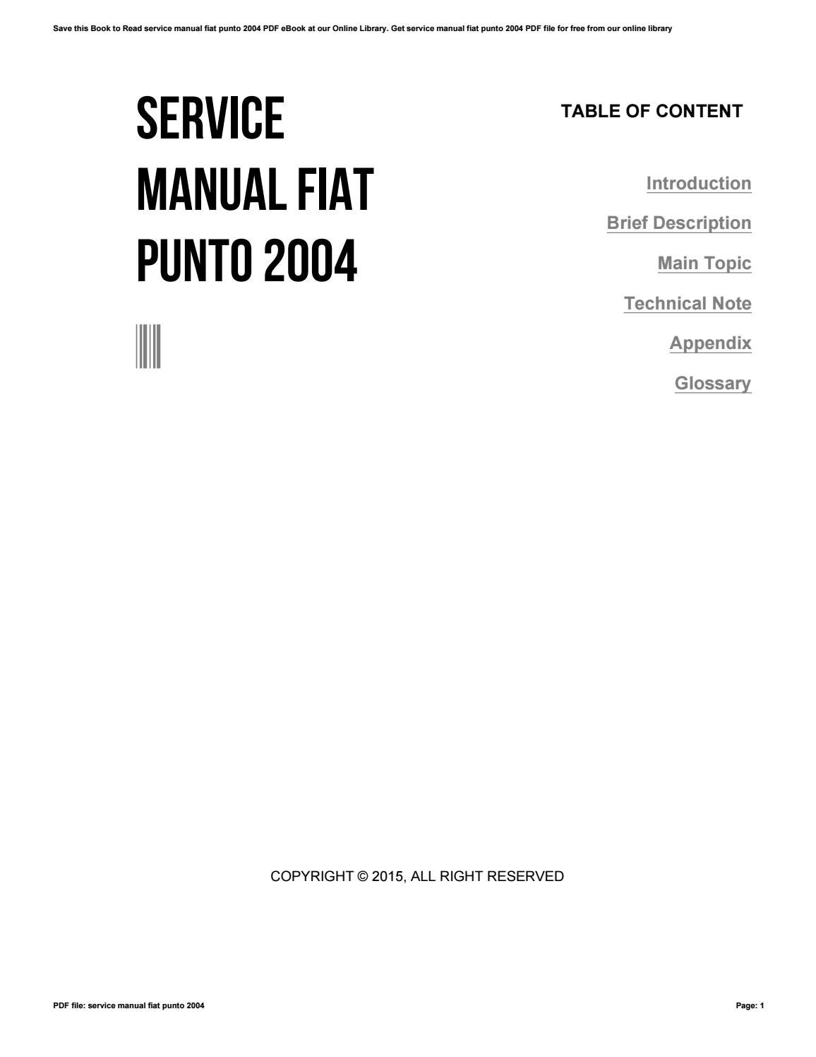 fiat punto owners manual 2015 ebook