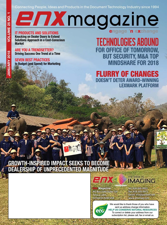 ENX Magazine January 2018 Issue by ENX Magazine - issuu
