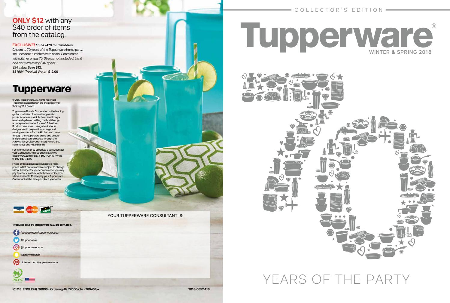Tupperware Winter/Spring Catalog 2018 by Alicia Manning - issuu