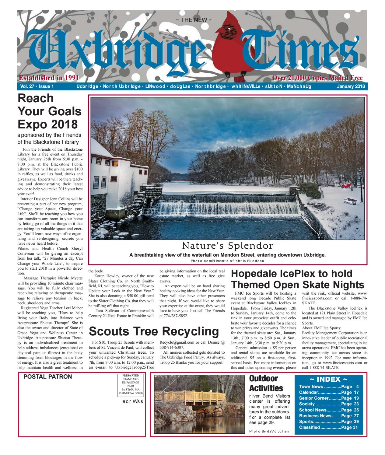 The New Uxbridge Times - January, 2018 by The New Uxbridge Times - issuu