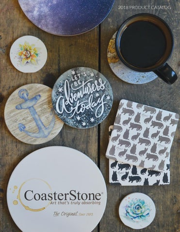 Peek-A-Boo Santas Absorbent Coasters