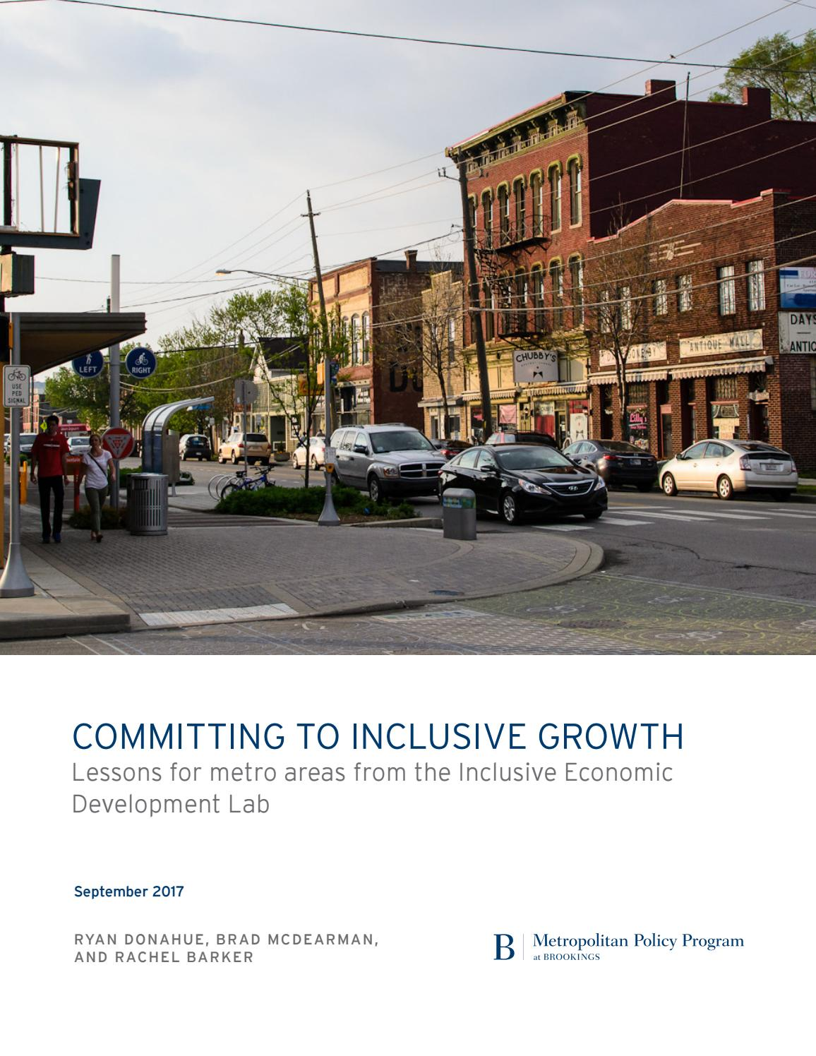 Committing to inclusive growth lessons for metro areas from the