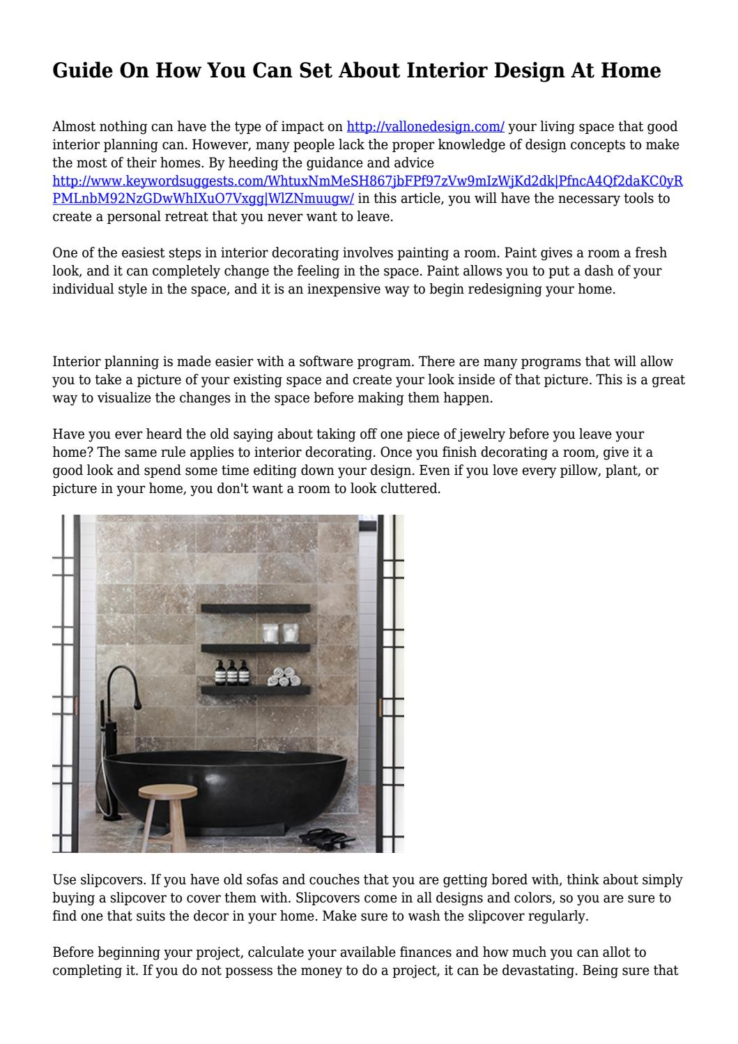 Guide On How You Can Set About Interior Design At Home... by c&belltojxsyiojbmarryadrian - issuu