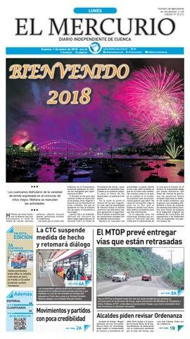 caf279310fb2 hemeroteca 01-01-2018 by Diario El Mercurio Cuenca - issuu